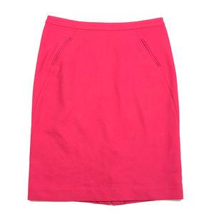 Loft Hot Pink Pencil Business Professional Skirt